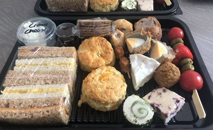 Takeaway Savoury Afternoon Tea in Rugby